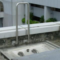 Metallic hand-rails