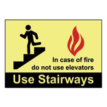 PPS0710G020 Photoluminescent Safety Signs