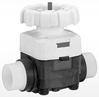 GEMU 677 HPW High Purity Diaphragm Valve, Plastic