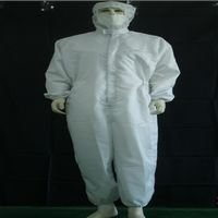 Cleanroom ESD jumpsuit, cleanroom coverall Smock Uniform---Lowest price, mass production direct